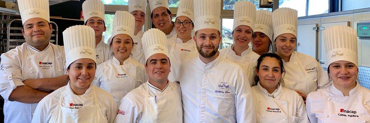 Docente Y Alumnos De Gastronomia De Inacap Sede Puerto Montt Realizaron Curso De Pasteleria En Francia